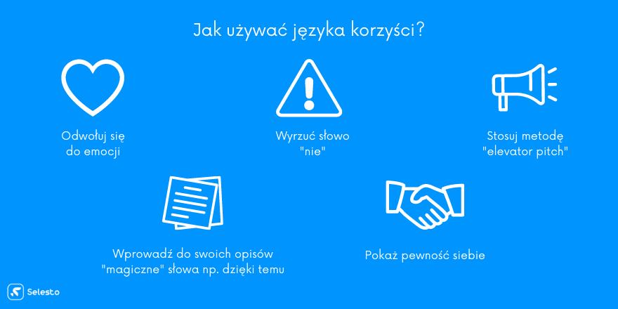 Jak używać języka korzyści